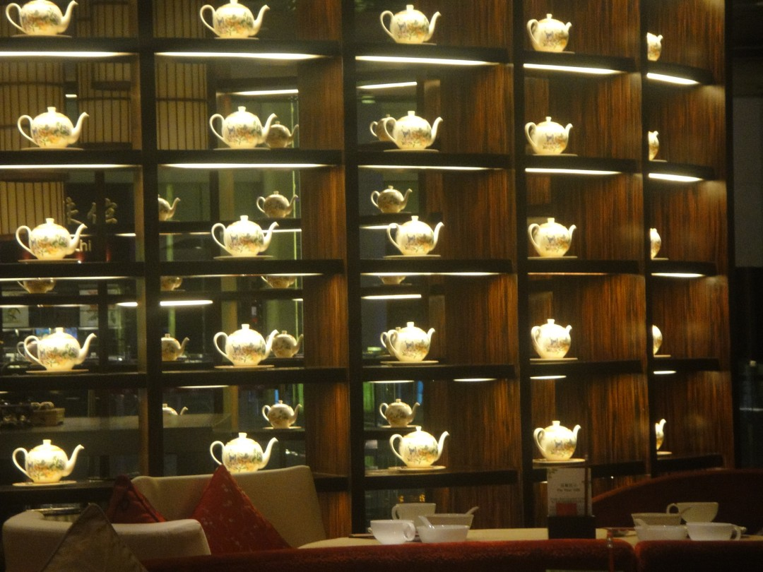 Gold and teapots